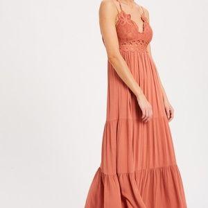 Dresses - SCALLOPED LACE BRALETTE MAXI DRESS